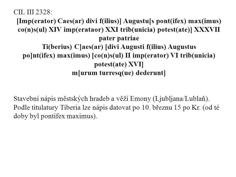 [Imp(erator) Caes(ar) divi f(ilius)] Augustu[s pont(ifex) max(imus)